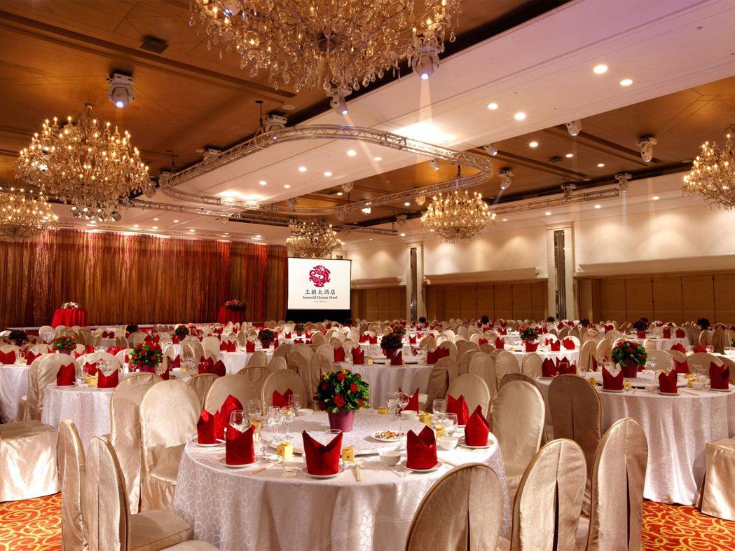 國際大會堂擁有挑高5米的氣派空間,現場還可安排各式大型表演活動。王朝大酒店/提供