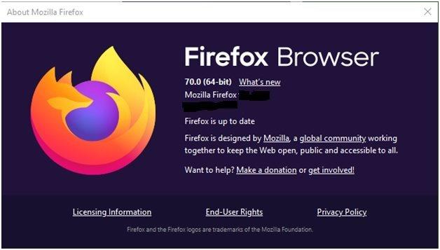 Firefox 70版 已經可以下載使用