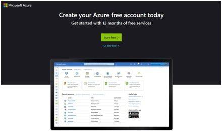 微軟雲端平台Azure歡迎畫面