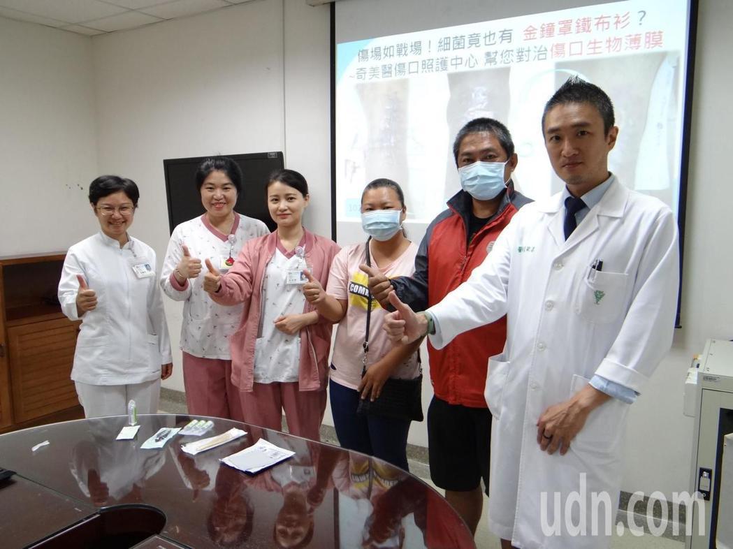 陳姓病患經過5個月治療傷口終於癒合。記者周宗禎/攝影