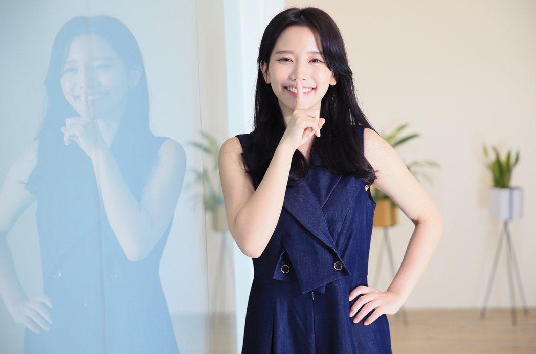 蔡瑞雪是國片影壇的甜美新面孔。記者潘俊宏/攝影