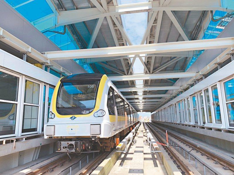 捷運新北環狀線第一階段預計年底通車,昨由台北市捷運局辦理一整天初勘。 記者魏翊庭/攝影