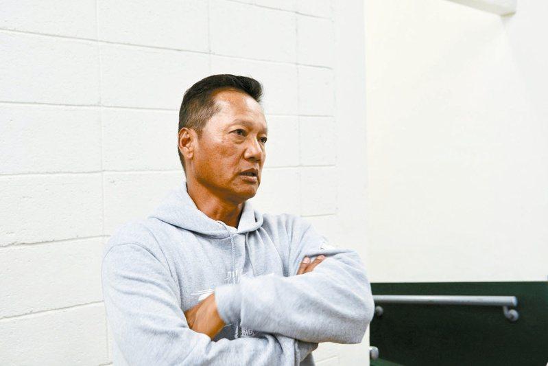 林振賢從去年的外野教練改任首席教練。 報系資料照