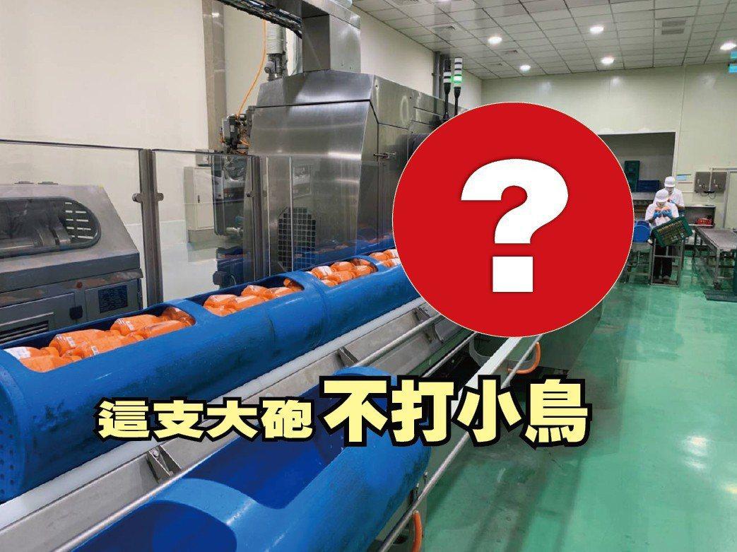 從美國進口軍事用的砲管做成壓力艙,用「大砲打果汁」,其實為了一個理由。圖/業者提...