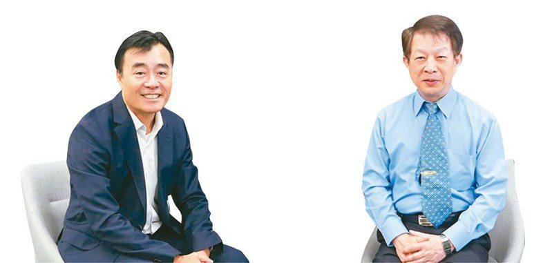 合勤控執行長楊國榮(左),合勤控董事長朱順一(右)。 圖/合勤控提供