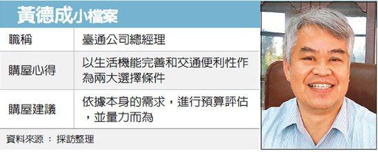 黃德成小檔案 圖/經濟日報提供