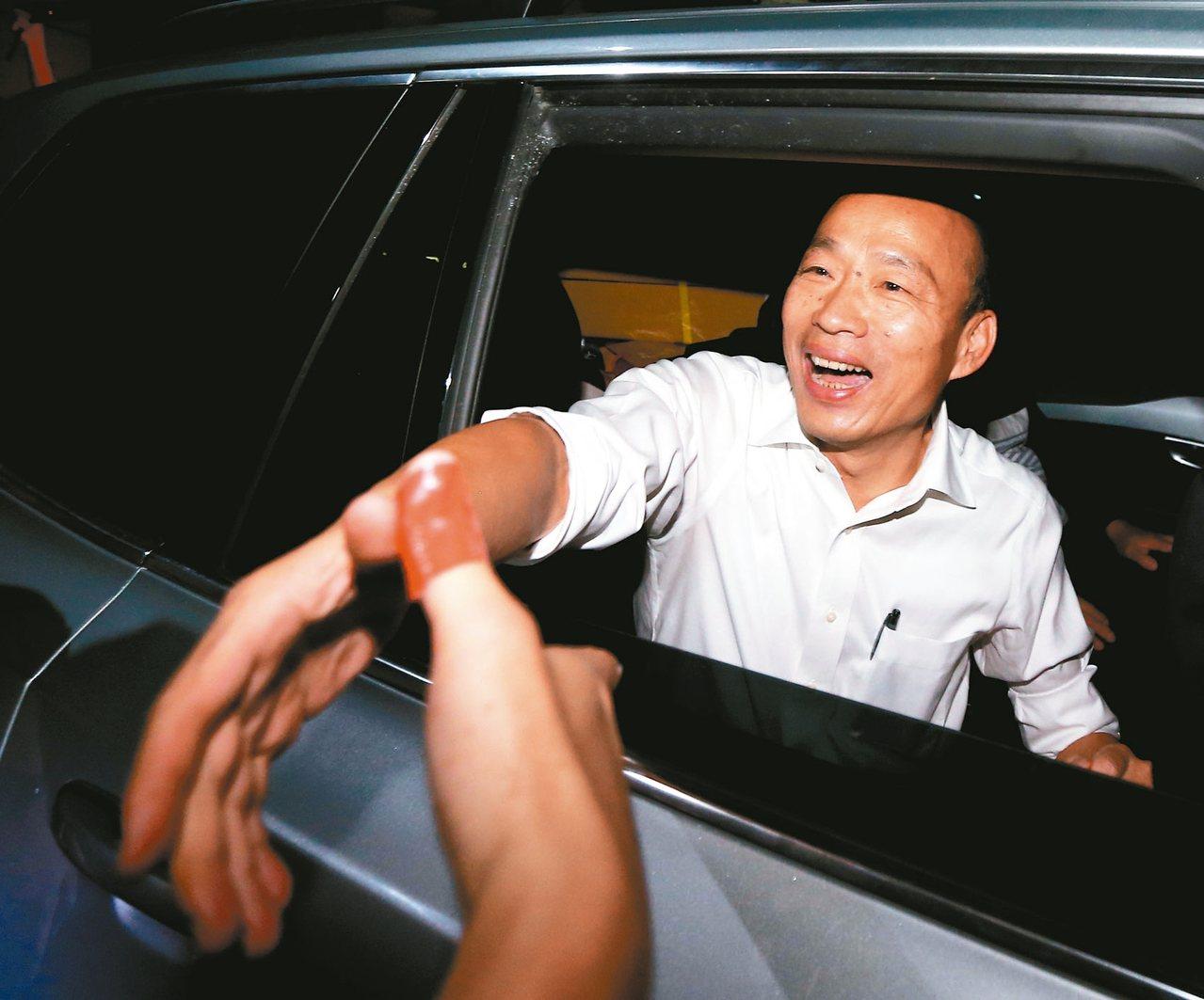 國民黨總統參選人韓國瑜昨晚表示,若他能當選總統,會加強推動雙語教育。 記者黃仲裕...