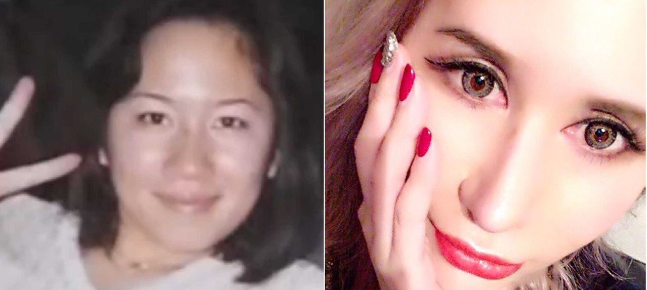 左邊為18歲田崎エリカ小姐,右邊為現在的樣子。/取自(田崎エリカのカスタム美Bl...