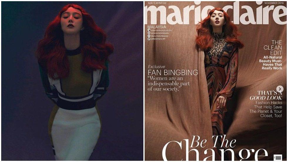 范冰冰登上「美麗佳人」馬來西亞版封面。圖/摘自微博
