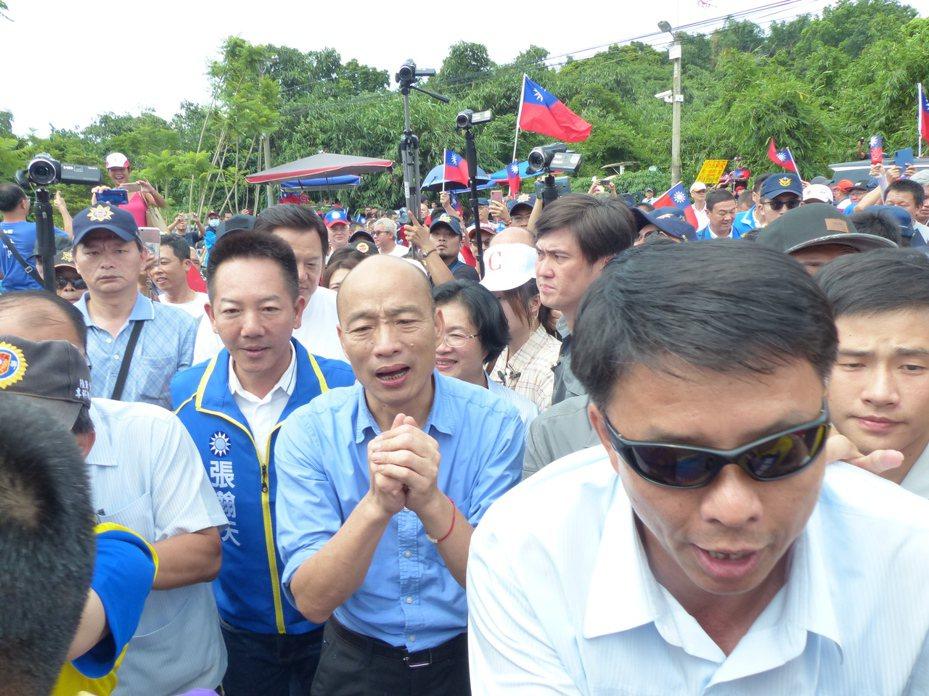 國民黨總統參選人韓國瑜將與100位40歲以下青年對談。本報資料照片