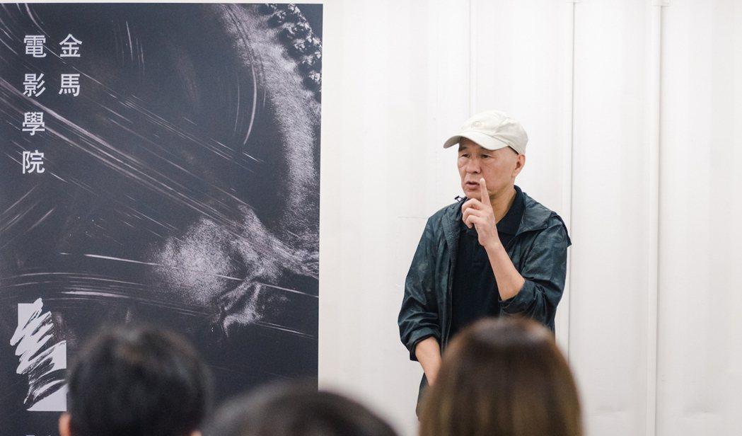 侯孝賢在金馬電影學院上與學生們分享拍片經驗。圖/金馬執委會提供