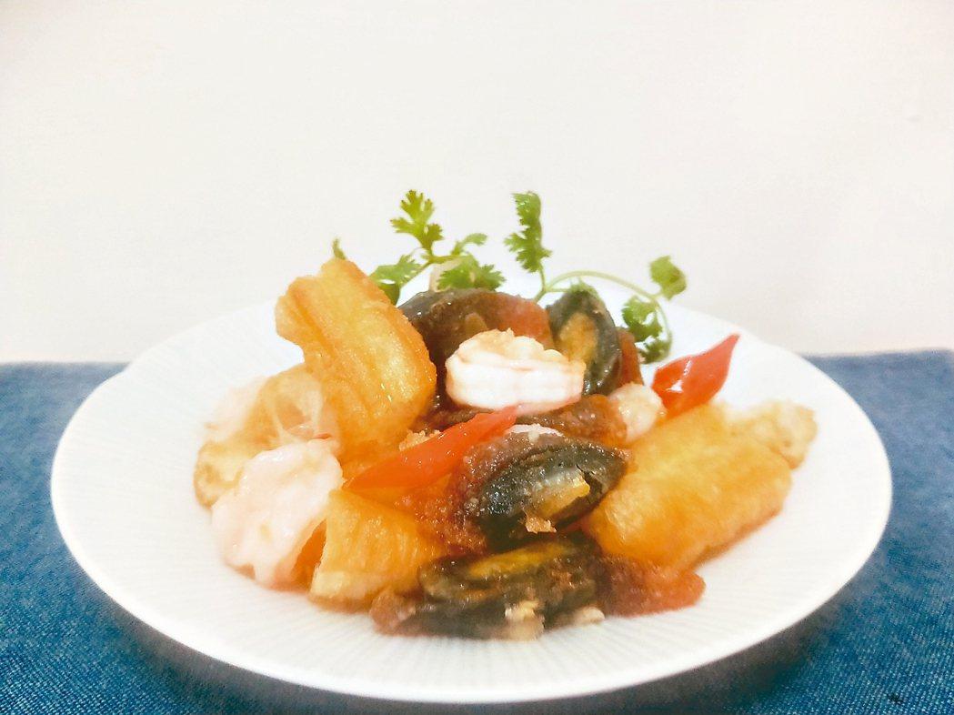 皮蛋油條蝦