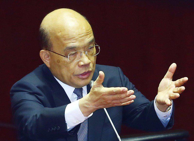 行政院長蘇貞昌。圖/聯合報系資料照片