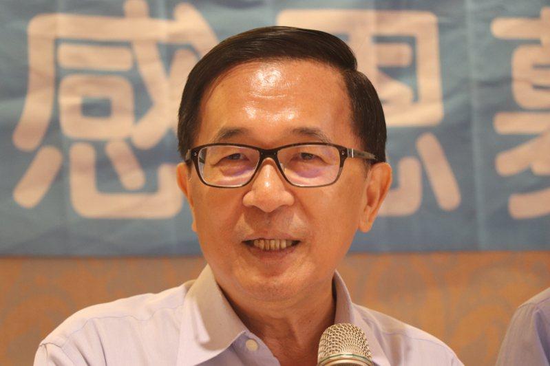對於行政院長蘇貞昌的「魔鬼說」,前總統陳水扁表示這不是法律人該說的話。 聯合報系資料照片/記者鄭維真攝影