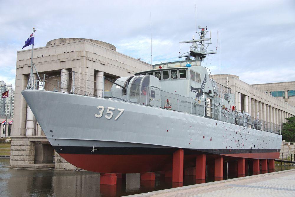 「複製」357號砲艇比照實艇。記者程嘉文/攝影