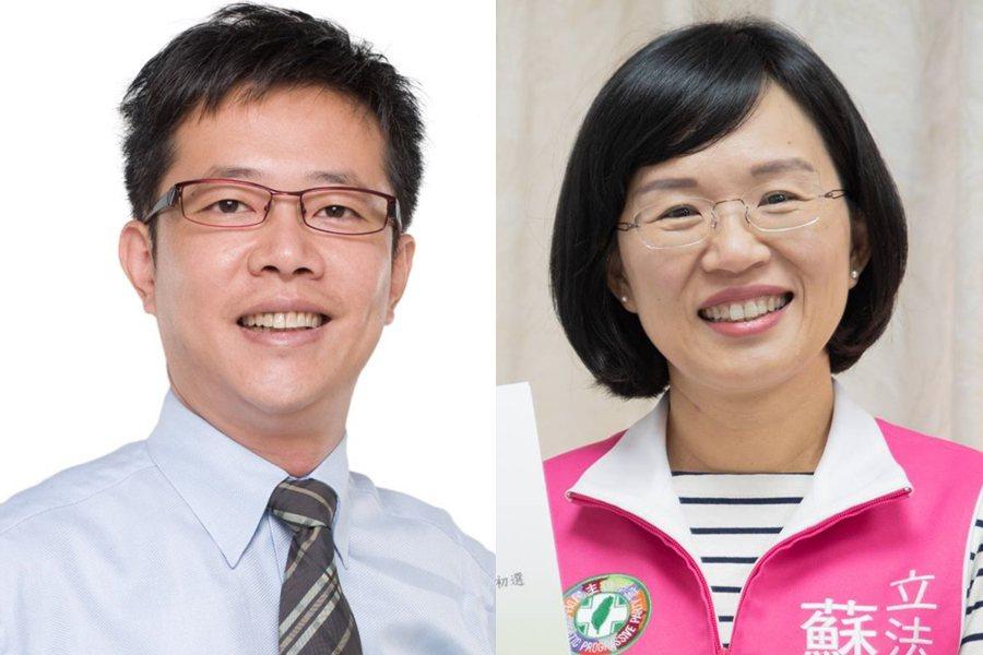 張宏陸(左)、蘇巧慧(右)。