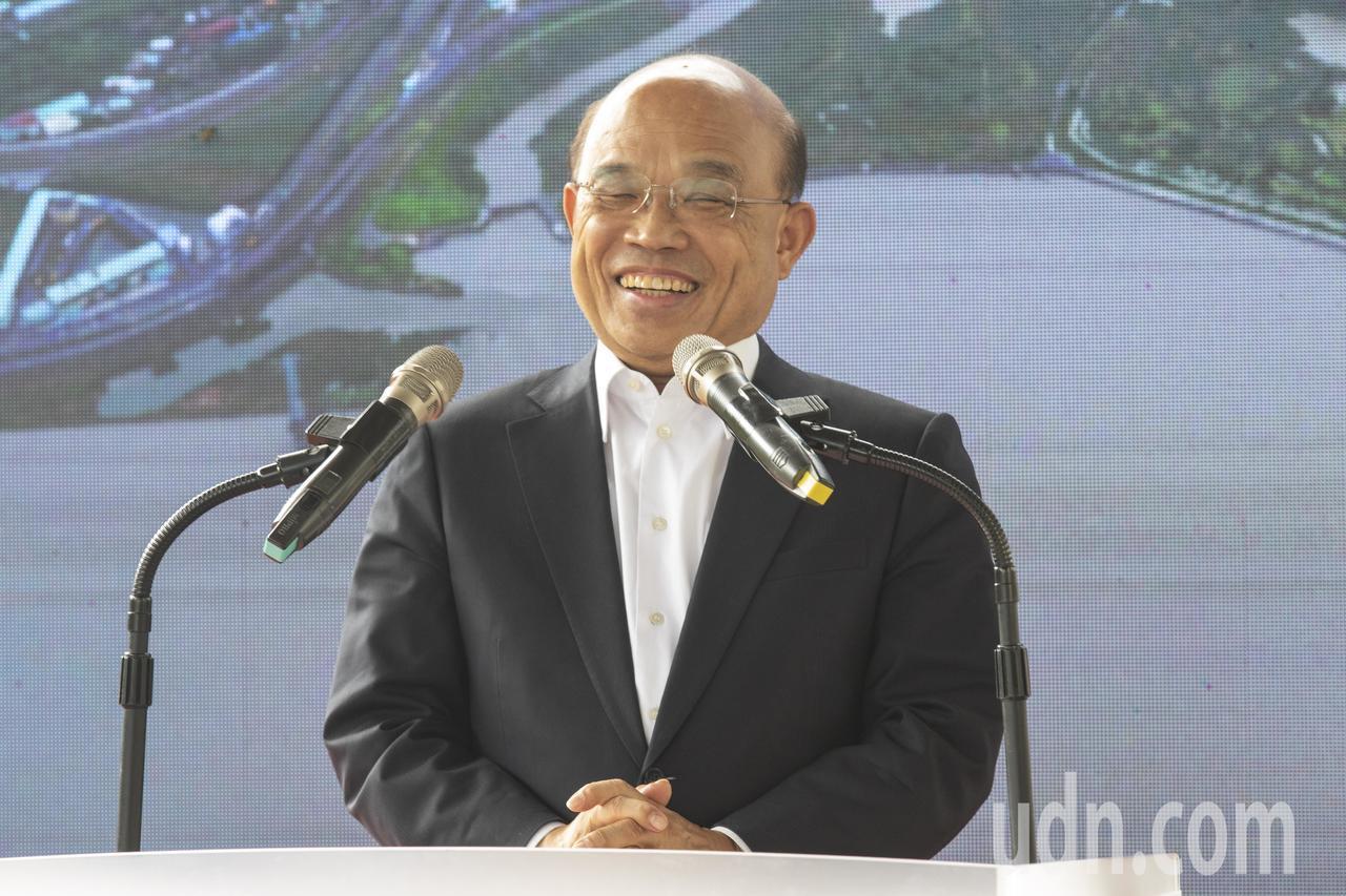 行政院長蘇貞昌說,前瞻預算在立法院審議時,國民黨立委丟水球、灑麵粉,現在卻上台說...