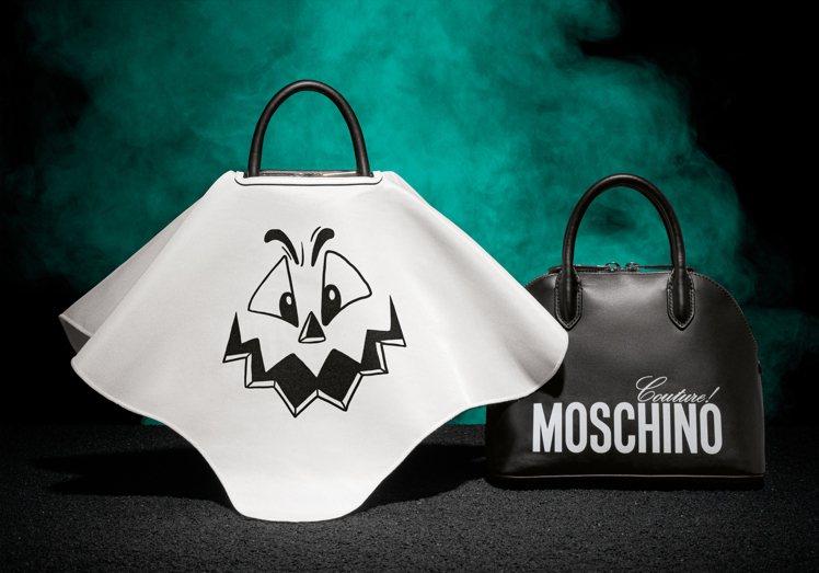 南瓜臉手提可拆式二用包外蓋+內包,44,500元。圖/Moschino提供