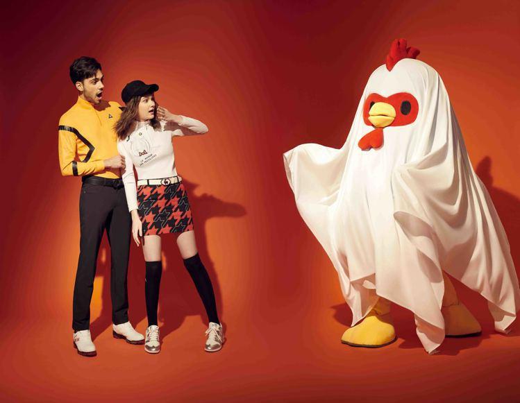 le coq sportif Golf推出萬聖節「搗蛋」主題服飾。圖/滿心提供