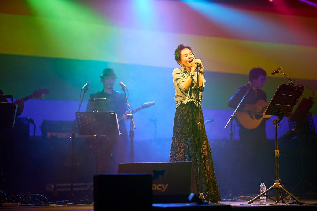 彭佳慧(Julia)26日於華山Legacy舉辦「2019都市女聲演唱會」。圖/...