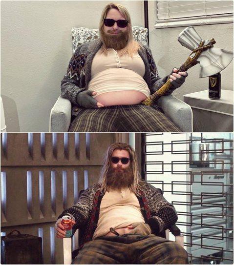 隨著萬聖節的到來,也有不少人裝扮成各式各樣的超級英雄,美國有一名懷孕32週的孕婦每年都熱衷於變裝,今年她則選擇詮釋「復仇者聯盟:終局之戰」身材走樣的「肥宅」雷神索爾,果然笑翻眾多網友。Reddit用...