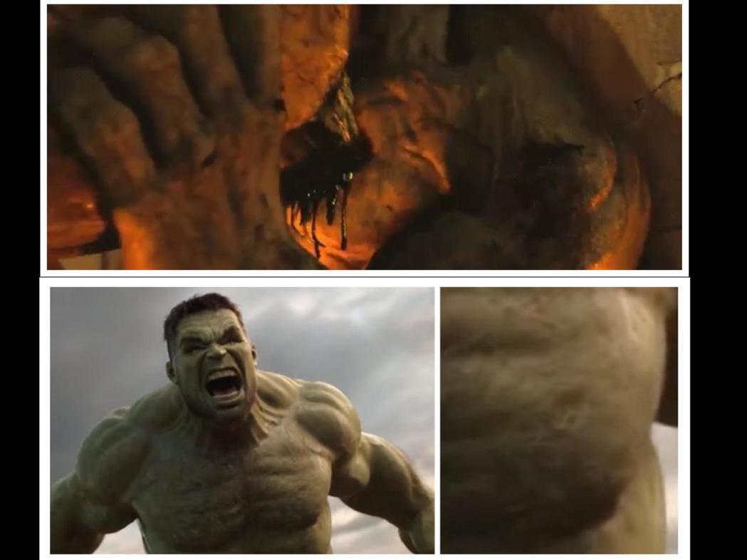 有Reddit網友發現「雷神索爾3」浩克的左胸上遺留著他在「無敵浩克」的舊傷口。