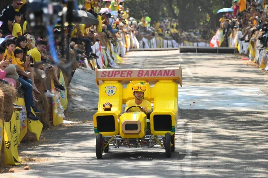 西拉雅趣飛車賽成績出爐,「SUPER BANANA」抱走金獎20萬元,羨煞與賽隊伍。圖/西拉雅風管處提供