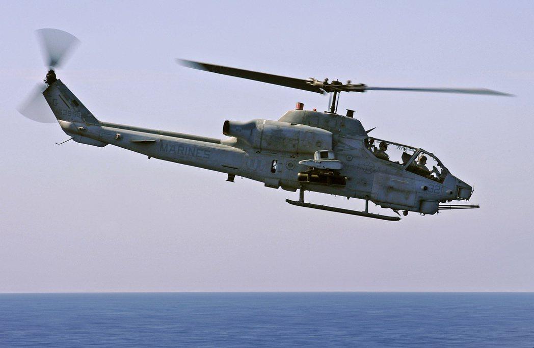 陸戰隊AH-1眼鏡蛇直升機。 圖/美國海軍資料照片