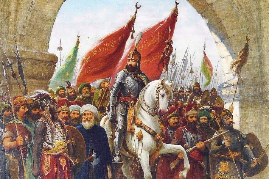 君士坦丁堡在1453年時被蘇丹穆罕默德二世所率領的鄂圖曼大軍所攻陷。伊斯蘭教的元...