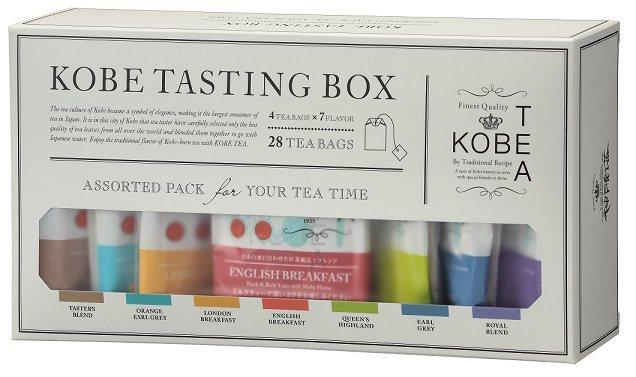 神戶紅茶KOBE TASTING BOX品嘗盒全7種,525元。圖/微風提供