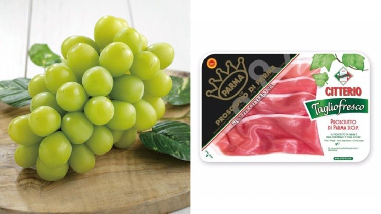 買長野麝香葡萄再送義大利帕瑪火腿。圖/微風提供