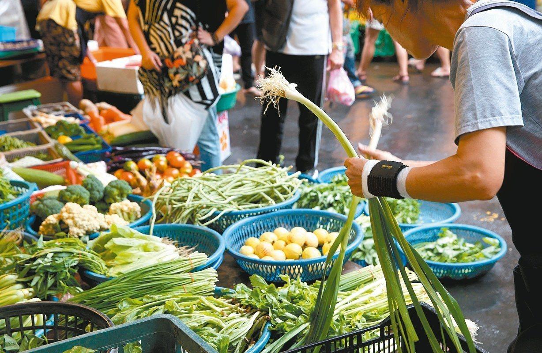 楊應超去菜市場超市也會估價。報系資料照