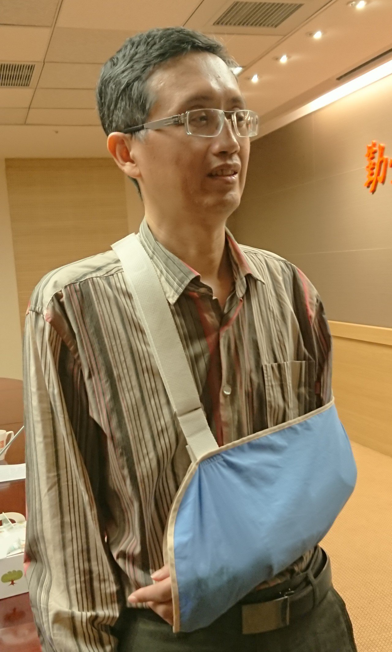 曾煥傑稱讚「台灣醫療品質真好!」記者卜敏正/攝影