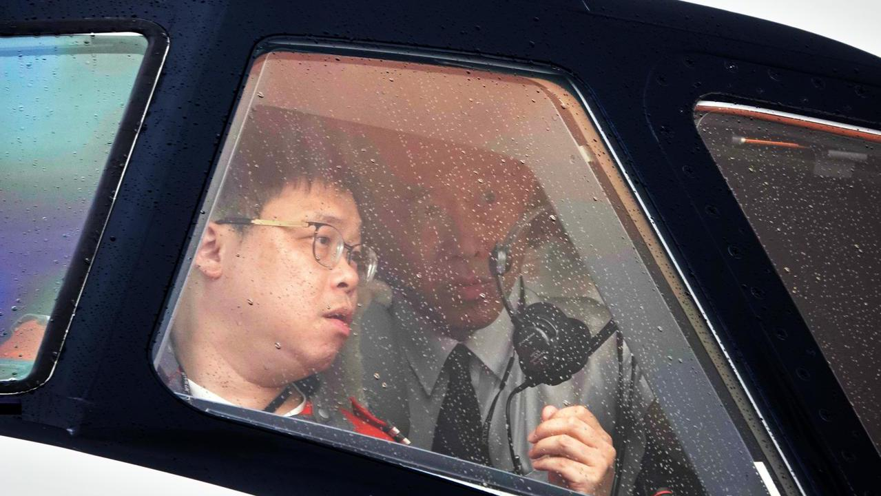 星宇航空第一架飛機中午降落在桃園機場,由董事長張國煒親自駕駛。 聯合報系記者鄭超...