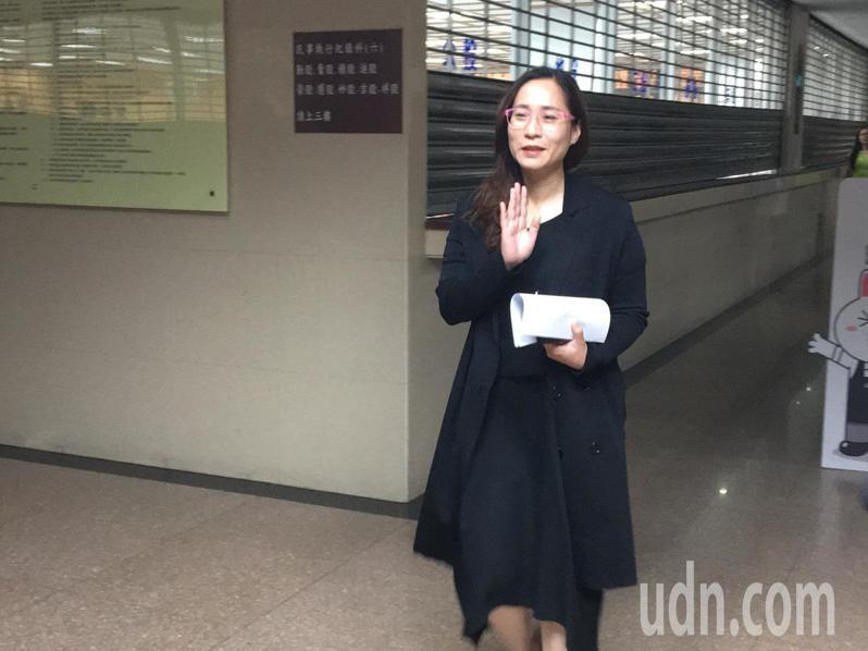 高潞・以用今天到台北地方法院開庭。記者林孟潔/攝影