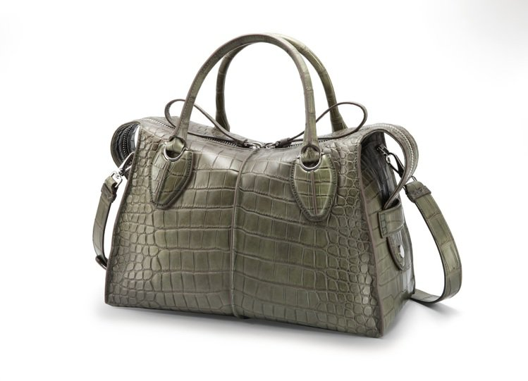 TOD'S新光A9店珍稀材質D-Styling Bag鱷魚皮,價格店洽。圖/迪生...