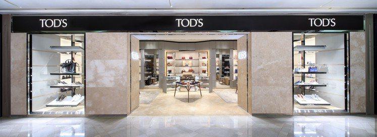 義大利時尚品牌TOD'S台北信義新天地A9店日前嶄新開幕,由米蘭旗艦店複製而來的...