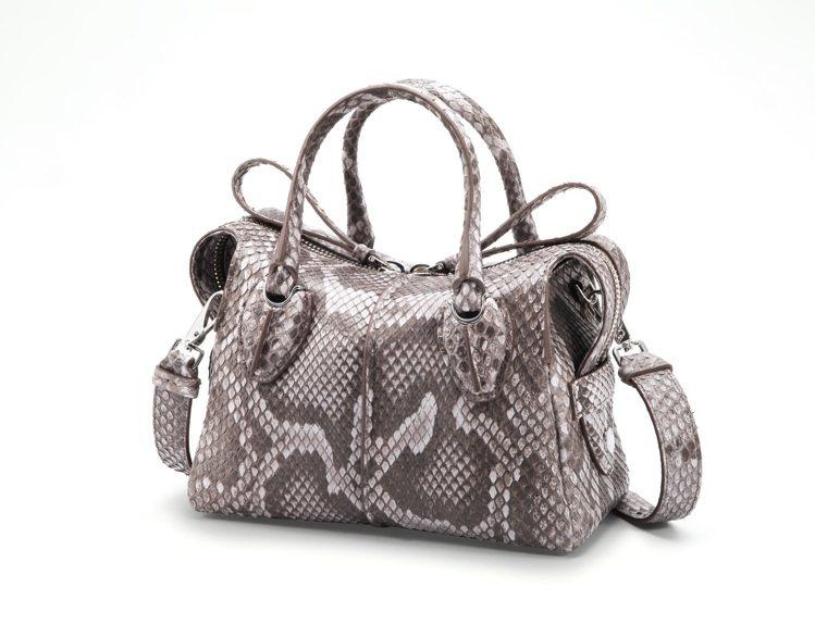 TOD'S新光A9店珍稀材質D-Styling Bag蟒蛇皮,價格店洽。圖/迪生...