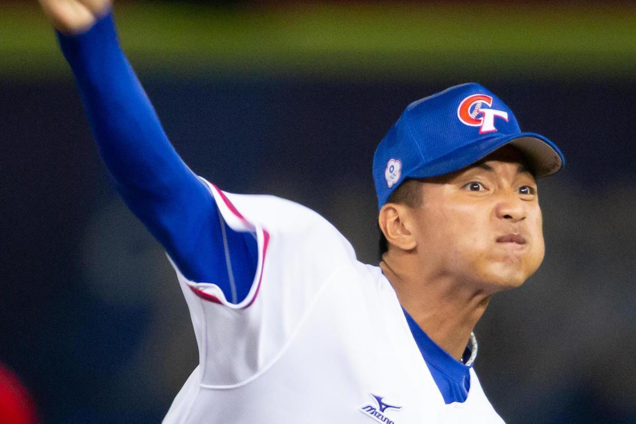 20歲右投劉致榮確定退出12強中華隊。 聯合報系資料照 記者季相儒/攝影
