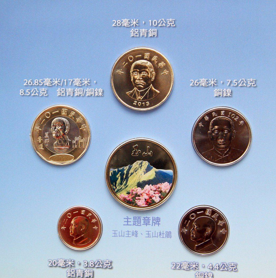 央行2013年發行的玉山國家公園套幣。 圖/聯合報系資料照片