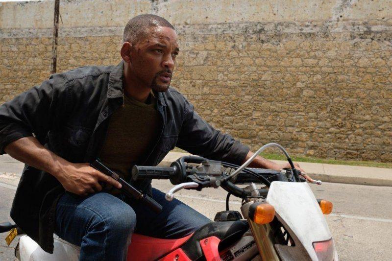 威爾史密斯拍過多部動作片,首度在「雙子殺手」上演自己對抗自己的戲碼。圖/UIP提