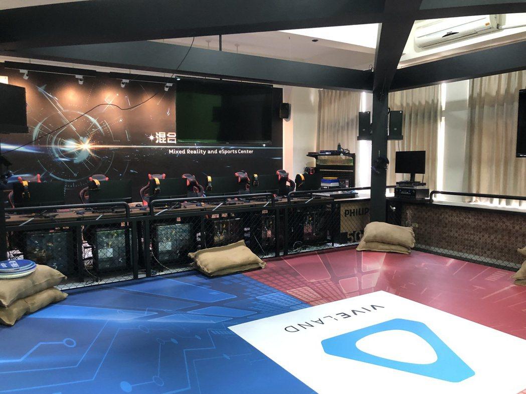 混合實境暨電子競技中心一景。 金門大學/提供。