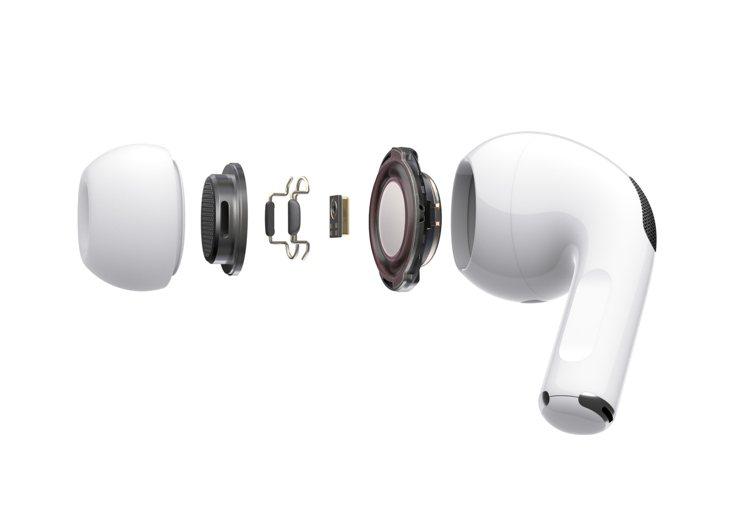 AirPods Pro搭載創新音訊技術,提供優越的音質與降噪體驗。圖/蘋果提供