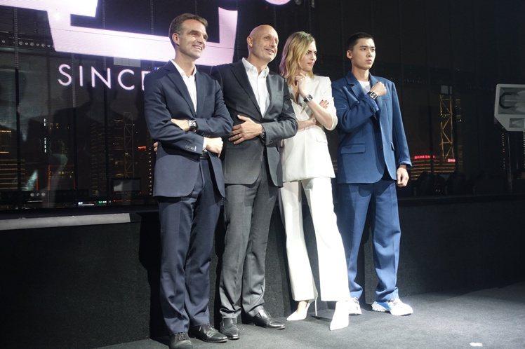 (左起)泰格豪雅亞洲區總裁Romain Millet、全球總裁Stéphane ...
