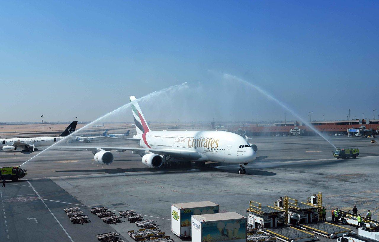 阿聯酋航空為第一家營運常態性A380航班服務的航空公司。圖/阿聯酋航空提供