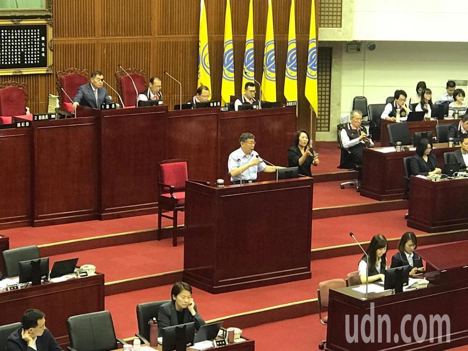 台北市議會下午進行市政總質詢。記者楊正海/攝影