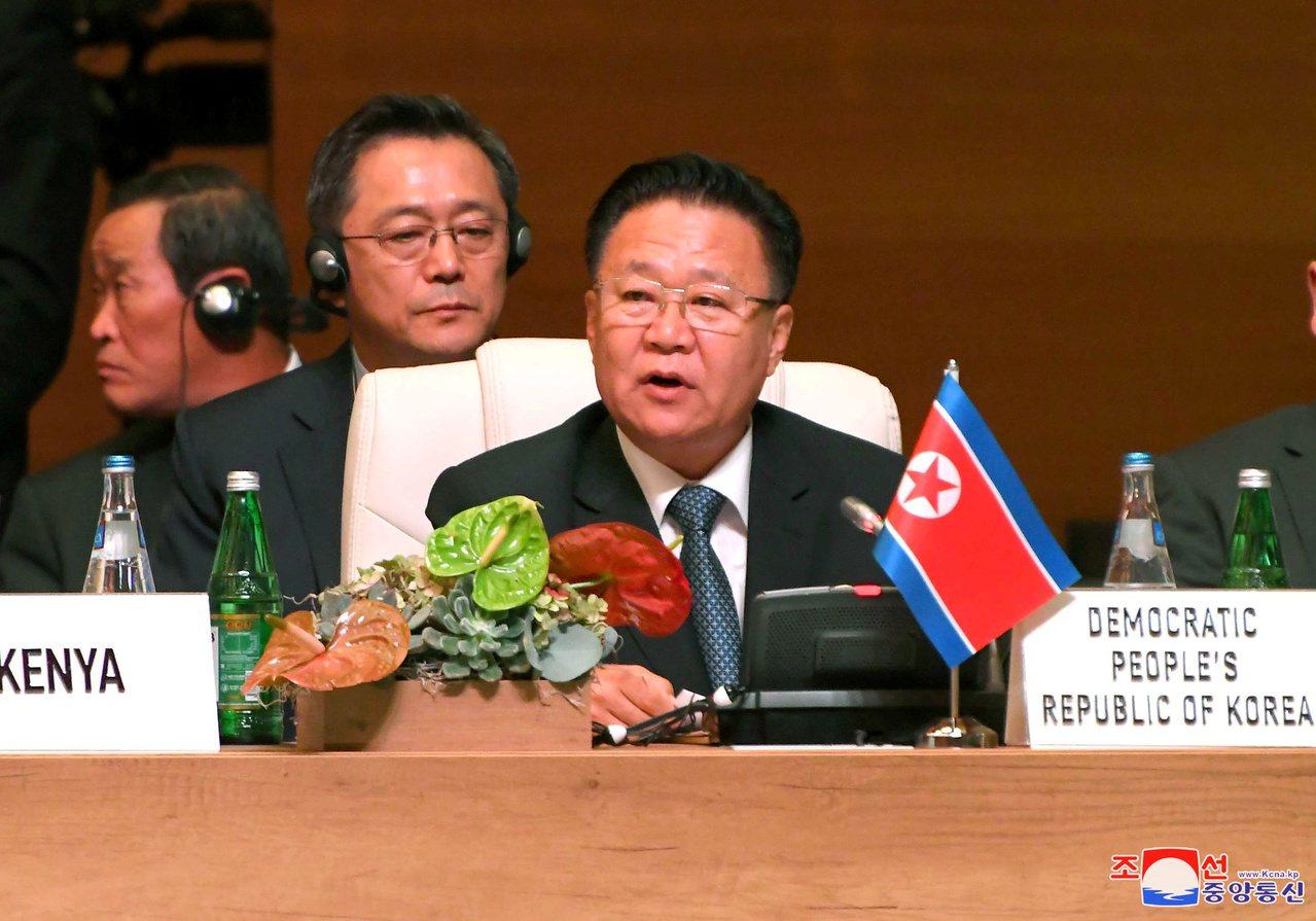 崔龍海日前在不結盟國家峰會上發言。路透