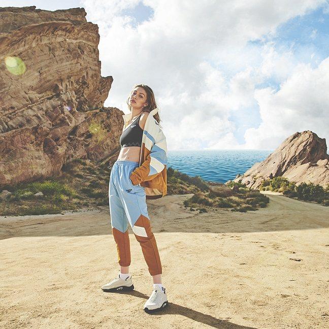 Gigi Hadid將運動的功能與時尚潮流融合,打造出全新系列商品。圖/Reeb...