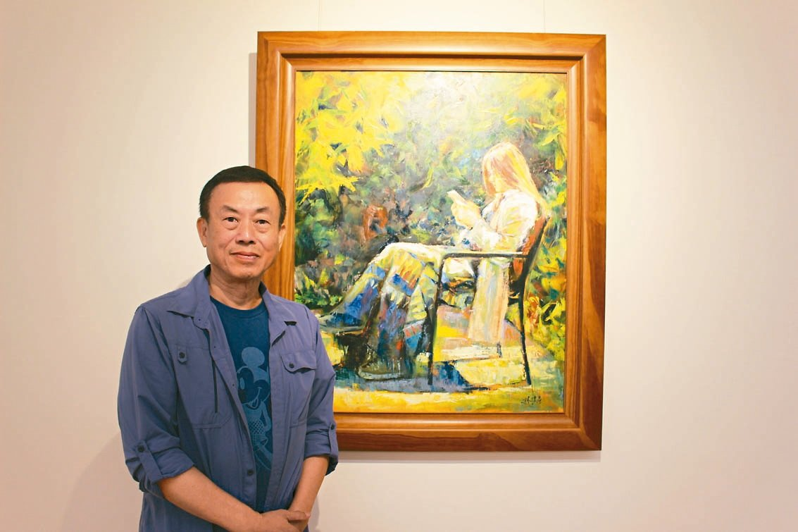 春雨藝術負責人林授昌不僅在電機事業有所成就,也對藝術展現超乎常人的熱忱。 記者張...