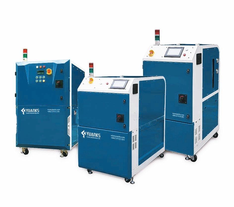 源科創新研發推出運用先進運算程式,能快速提供刀具冷卻壓力的高壓中心出水冷卻機,效...